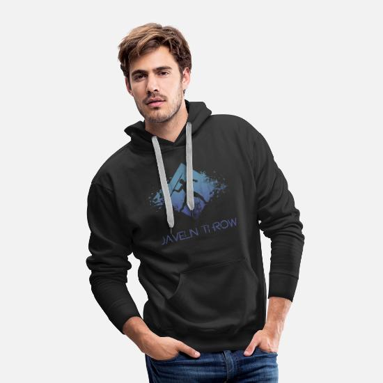 Evolution Hoodies & Sweatshirts - javelin thrower - Men's Premium Hoodie black