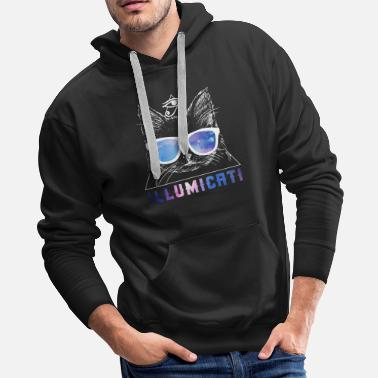 Diamond Galaxy Cartoon Hands Crewneck Illuminati Cool Graphic Novelty Sweatshirt