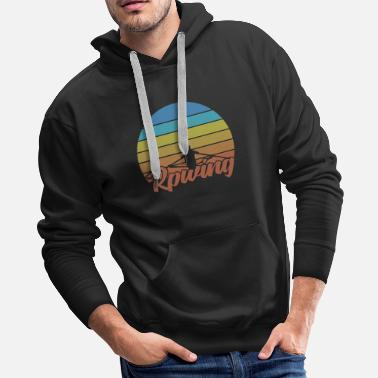 Dragon Boat Rowing retro canoe water sports motif - Men's Premium Hoodie