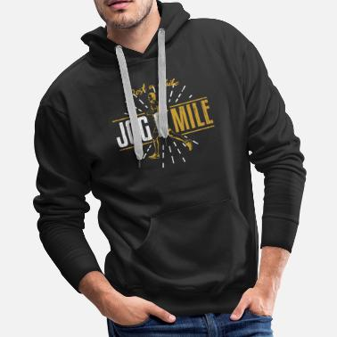 Iron Jogging Mile - Men's Premium Hoodie