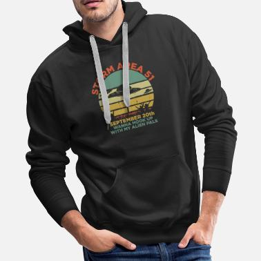 Conspiracy Storm Area 51 UFO Alien Abduction Retro Cool Gift - Men's Premium Hoodie
