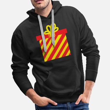 Yellow Ribbon Christmas present with yellow bow - Men's Premium Hoodie
