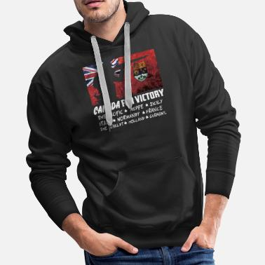 Canadian Pacific Canadian World War 2 Battles - Men's Premium Hoodie