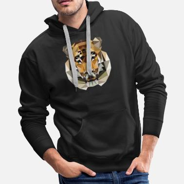Tiger Low Poly Design - Men's Premium Hoodie