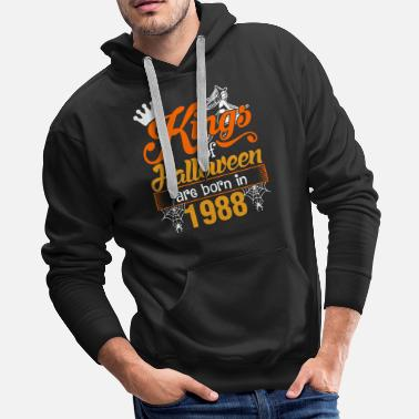 Ghost Kings of Halloween are Born in 1988 - Men's Premium Hoodie