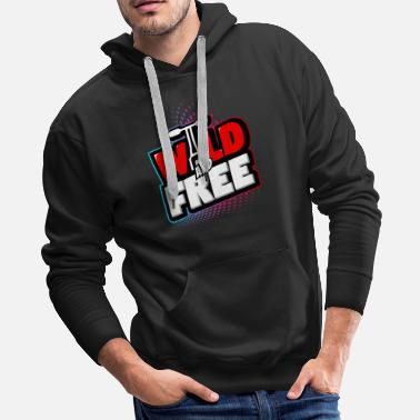 Charger e scooter wild and free - Men's Premium Hoodie