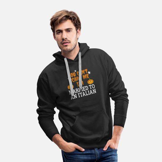 Halloween Hoodies & Sweatshirts - Can't scare me I'm Married to an Italian - Men's Premium Hoodie black