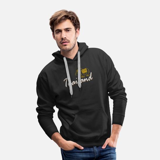 Bangkok Hoodies & Sweatshirts - Thailand Elephant Holiday Travel Memories Asia - Men's Premium Hoodie black