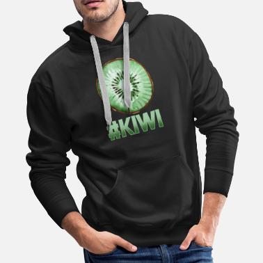 Sliced Fruit Kiwi Slice Fruit Halloween - Men's Premium Hoodie