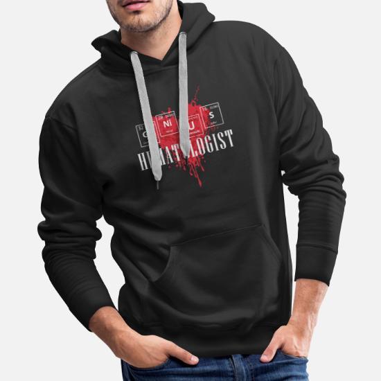 Hematology / Hematologist / Hospital Doctor Men's Premium Hoodie - black