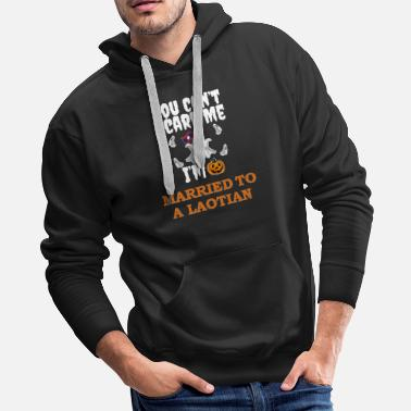Without Can't scare me I'm Married to a Laotian Halloween - Men's Premium Hoodie