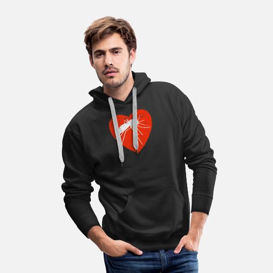 Animal Rights Activists Hoodies & Sweatshirts - Heart For Mosquitos - Men's Premium Hoodie black