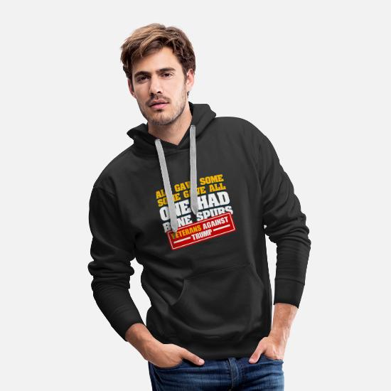 Protest Hoodies & Sweatshirts - Mens Veterans Against Trump I Protest design - Men's Premium Hoodie black