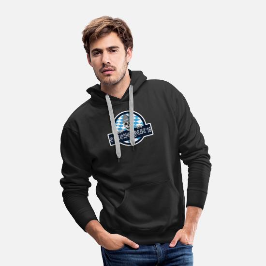 Bavarian Hoodies & Sweatshirts - Oktoberfest 2018 Beer Skeleton Skull Dirndl German - Men's Premium Hoodie black