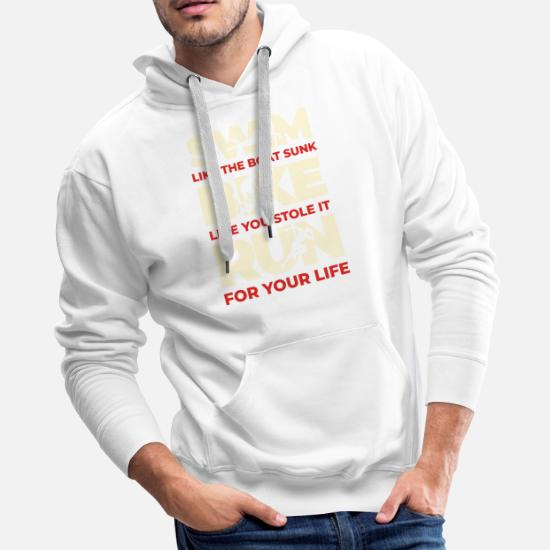 Cool Sweatshirt Hoodie Triathlon Swim Bike Run Tee Shirt