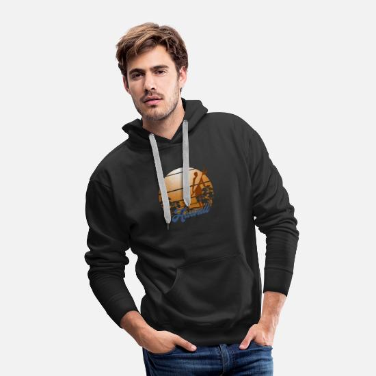 Hawaii Hoodies & Sweatshirts - Summer Hawaii Mahalo Surfing - Men's Premium Hoodie black
