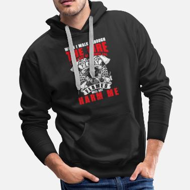 Blow Out Flames will not harm me burning Firefighter - Men's Premium Hoodie