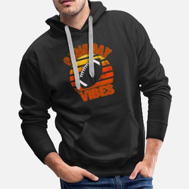 American Vintage Game Day Vibes For Football Mom Boys - Men's Premium Hoodie