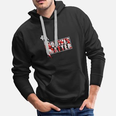Spooky No Lives Matter For Halloween Party Costume - Men's Premium Hoodie