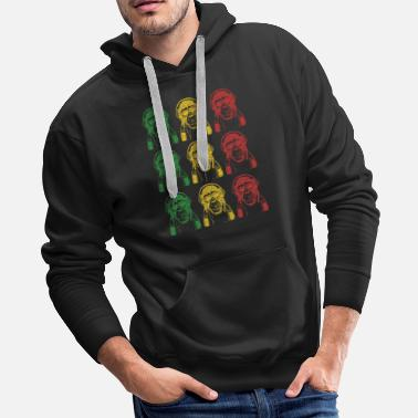 Reggae Cool Monkey - Men's Premium Hoodie