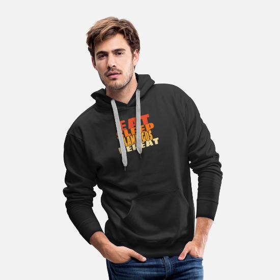 Flamingos Hoodies & Sweatshirts - Flamingo - Men's Premium Hoodie black