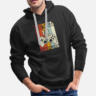 Virtual Level 16 Complete T-Shirt Video Game Tee - Men's Premium Hoodie