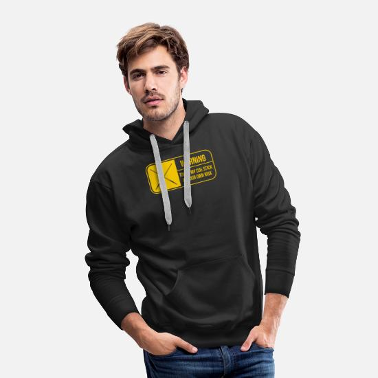 Owner Hoodies & Sweatshirts - Warning Touch My Cue Stick At Your Own Risk - Men's Premium Hoodie black