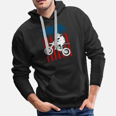 Motor Motorcycle USA - Men's Premium Hoodie