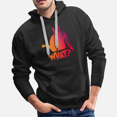 Super Cat with knife - what? - Men's Premium Hoodie