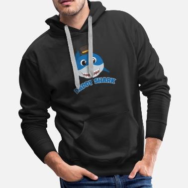 Baby Shark Doo Doo Daddy Shark Family Father Funny Gift Idea - Men's Premium Hoodie