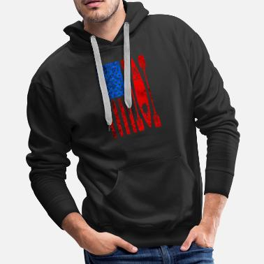 Canoe Kayak Canoe Canoeing Kayaking Rafting Whitewater - Men's Premium Hoodie