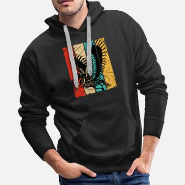 Fly Owl Night Nocturnal Bird Cuckoo Ornithology Forest - Men's Premium Hoodie