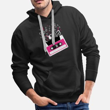 Rectangle Cassette tape Rectangle M Pattern Rectangle - Men's Premium Hoodie