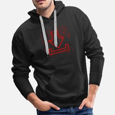 Download Red Download Icons Drawings Gift Idea T-Shirt - Men's Premium Hoodie