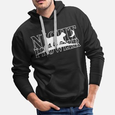 Drive Lover Night Prowler cat - night owls moonstruck - Men's Premium Hoodie