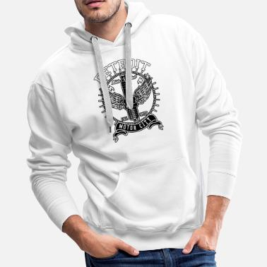Motor Awesome Gift - Detroit Motor City Spark - Men's Premium Hoodie