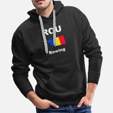 Eight ROU - Romania - Rowing - Aviron - Oar - Big Blade - Men's Premium Hoodie