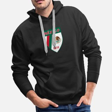 Arm Mexico coat of arms with national colors / gift - Men's Premium Hoodie