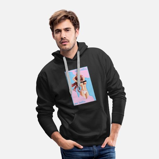 Anime Hoodies & Sweatshirts - no waifu no laifu jumper - Men's Premium Hoodie black
