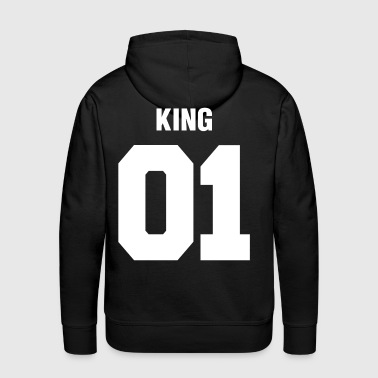 Relationship King 01 Wedding Couple Man Woman - Men's Premium Hoodie