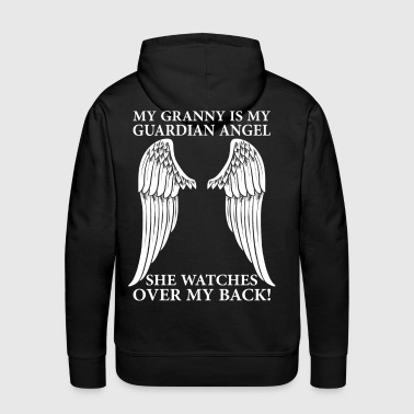 My Granny Is My Guardian Angel - Men's Premium Hoodie