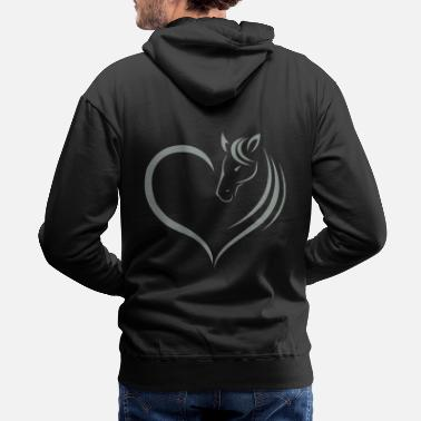 Horse Head HORSE HEART - Men's Premium Hoodie