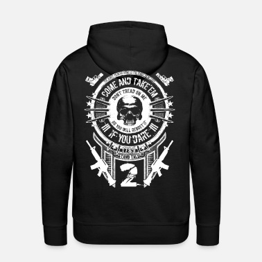 Gun Gun Rights - Come And Take'em White - Men's Premium Hoodie