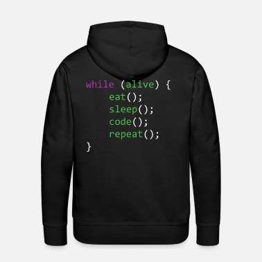 Lifestyle Life of A Coder - Men's Premium Hoodie