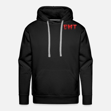 BLOODY EMT TEXT - Men's Premium Hoodie