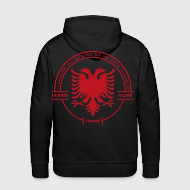 Balkan Albanian Cities Badge Red - Men's Premium Hoodie