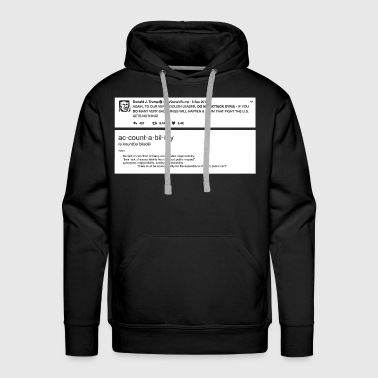 Donald Trump - Accountability - Syria Tweet - Men's Premium Hoodie