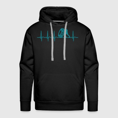 Heartbeat Strongman Shirt Champion Cool Gift - Men's Premium Hoodie