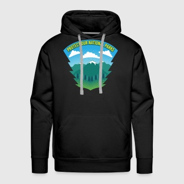 Protect Our National Parks - Nature Earth Wildlife - Men's Premium Hoodie