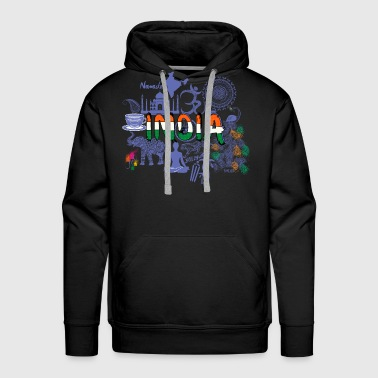 Welcome to India Purple T Shirt - Men's Premium Hoodie